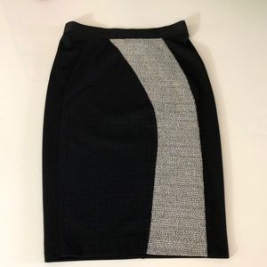 NWT:  size small black with white tweed skirt